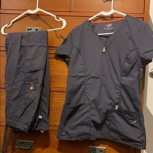 Code Happy gray scrubs